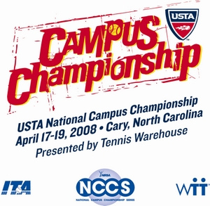 2008 USTA National Campus Championship Logo With All Partners
