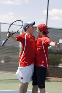 University of Wisconsin Club Tennis Team - John Smits and Justin Lewis