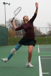 Valerie Collins, Towson University Club Tennis Team, Serve