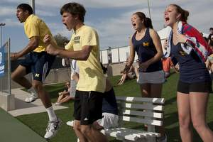 University of Michigan Club Tennis Team Celebrates