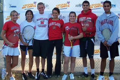 University of Maryland Club Tennis Team at the 2010 Tennis On Campus Fall Invitational