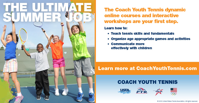 Coach Youth Tennis Homepage Ad