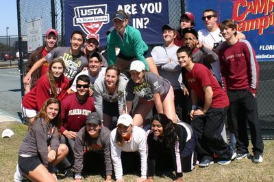Florida State University Club Tennis Team Photo (400)