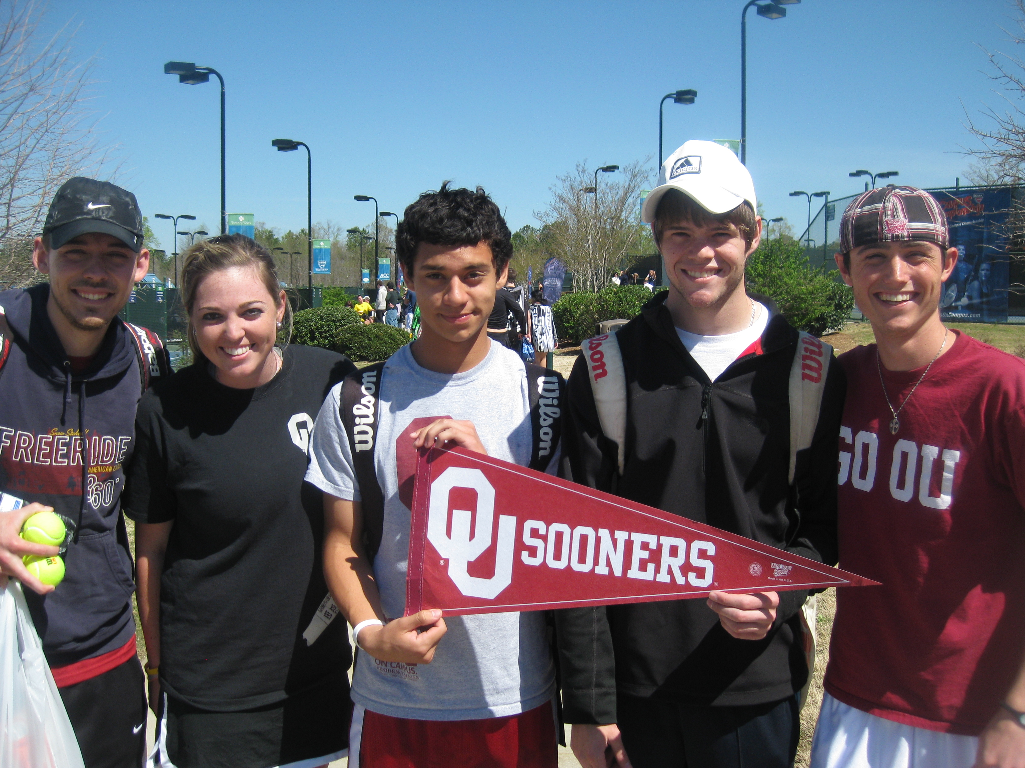 University of Oklahoma Club Tennis Team Pennant